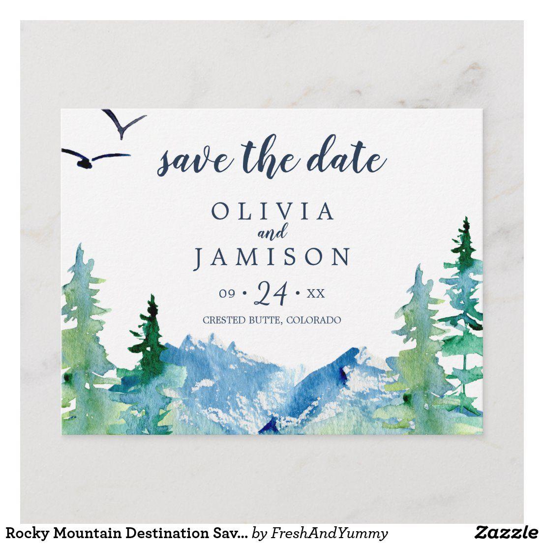Rocky Mountain Destination Save the Date Postcard Zazzle