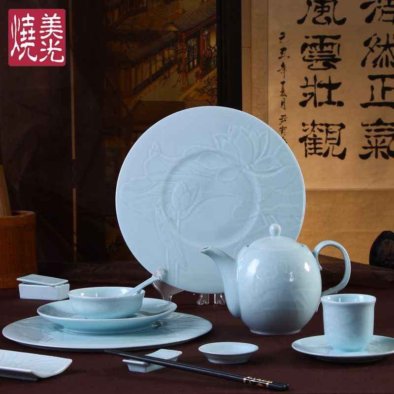 Chinese celadon porcelain dinner setu0026dinnerware set HH · Chinese RestaurantDinner SetsDinnerware ... & Chinese celadon porcelain dinner setu0026dinnerware set HH | Celadon ...