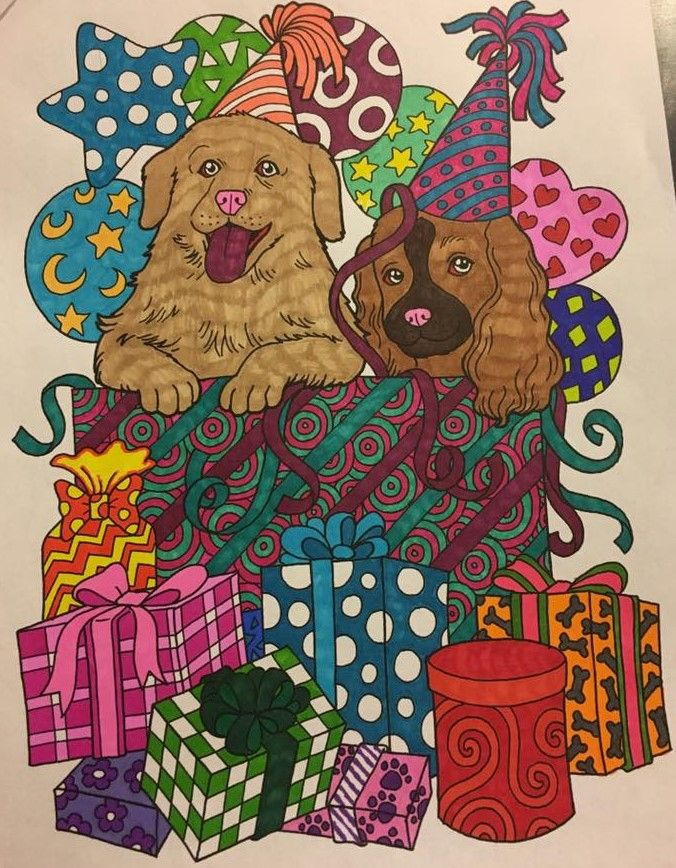 ColorIt Dogs, Everyoneu0027s Best Friend Adult Coloring Book Colorist - best of coloring pages for adults dogs