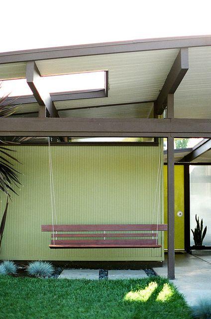 Eichler home orange california garden flowers - Gartendekoration modern ...