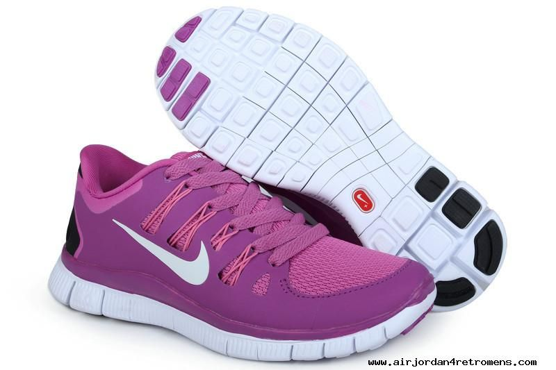 Womens Nike Free 5.0 Purple White Shoes