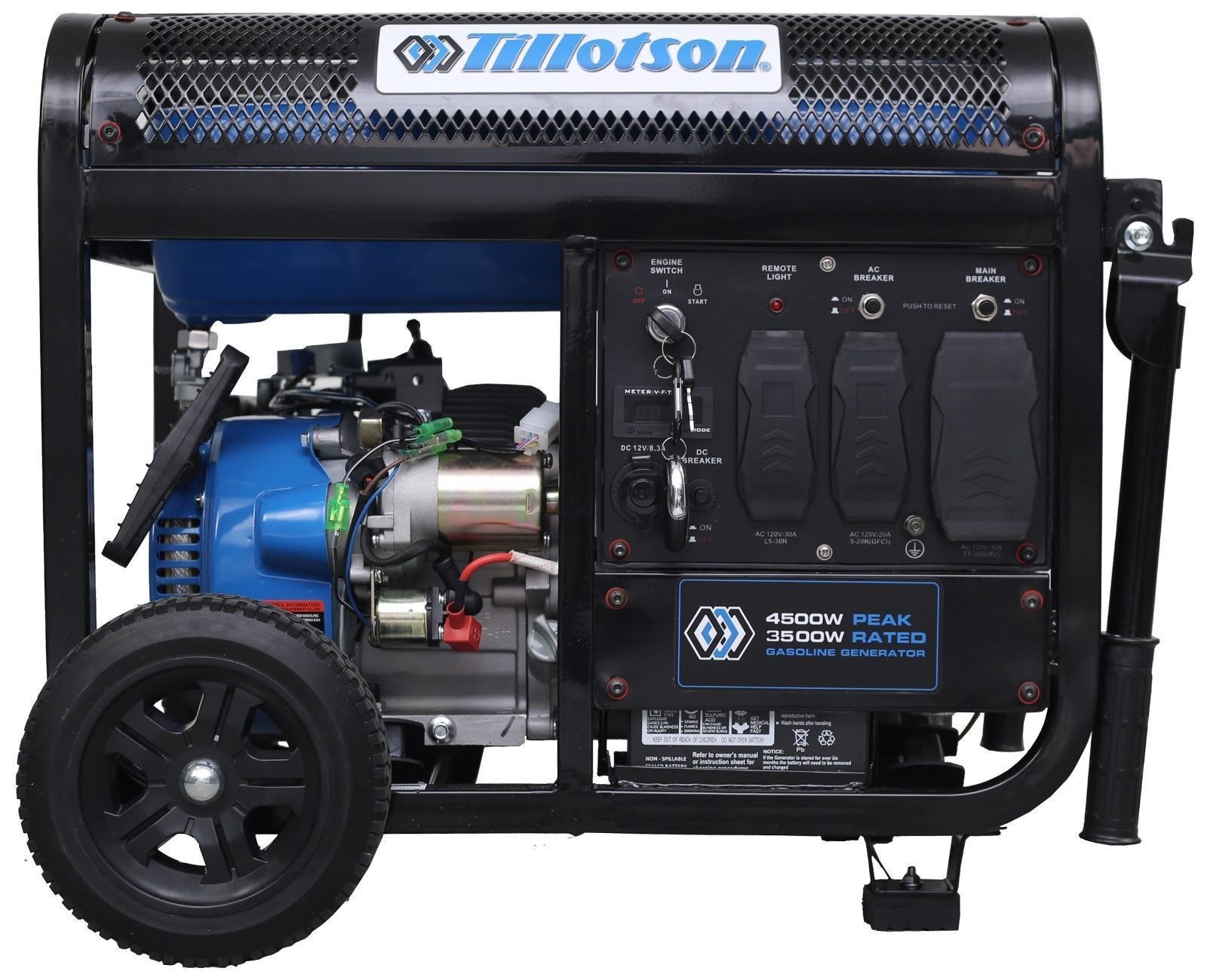 medium resolution of tillotson generator 4500 gasoline operated with remote control