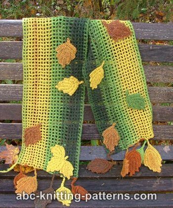 Fall Leaves Scarf - free crochet pattern - i just want the pattern ...