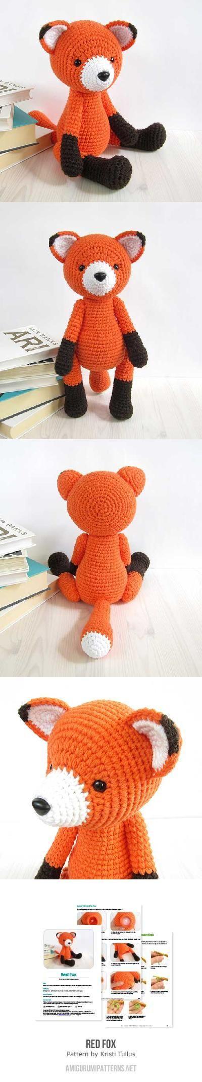 Red Fox amigurumi pattern by Kristi Tullus | Pinterest | Fuchs, Süß ...