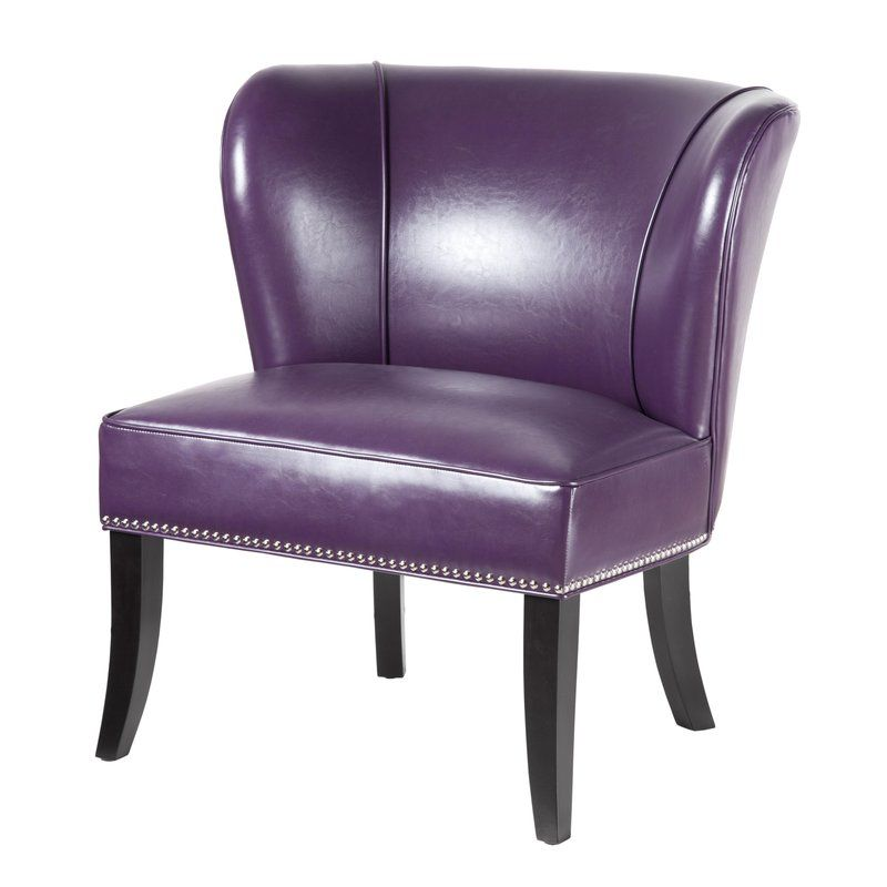 Armless Purple And Black Accent Chair Dimensions: Boyers Slipper Chair (With Images)