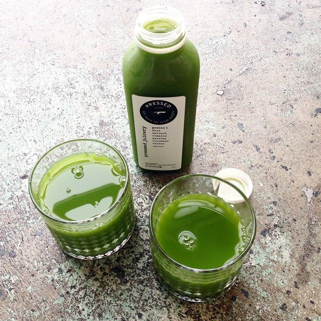 Green juice for two. Cheers!
