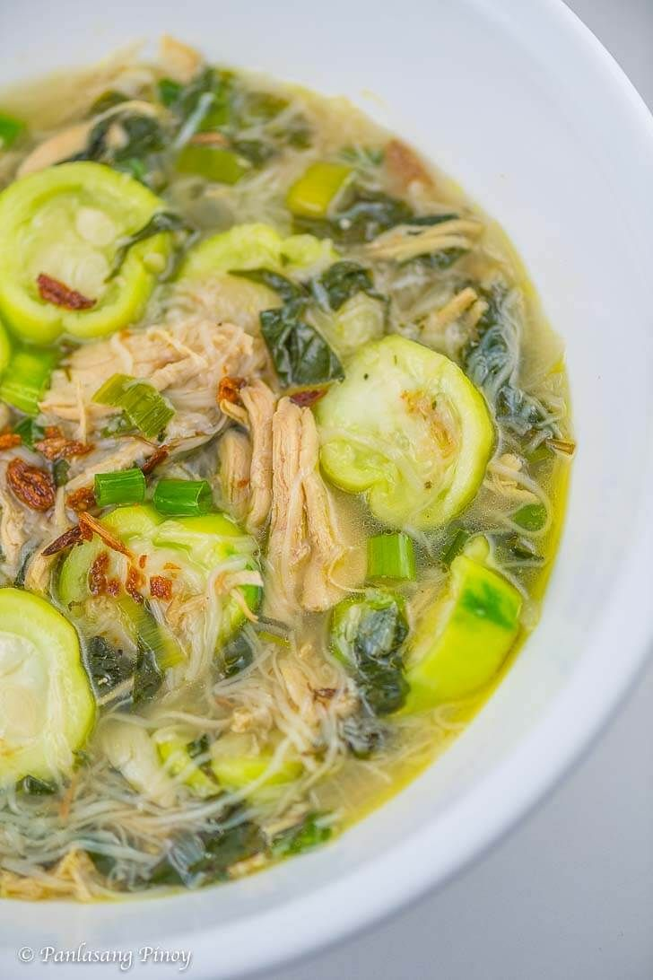 Chicken Soup with Misua and Patola
