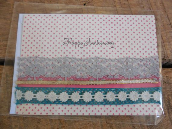 Anniversary Card Handmade Card Embellished by PrettyLittleCrafties