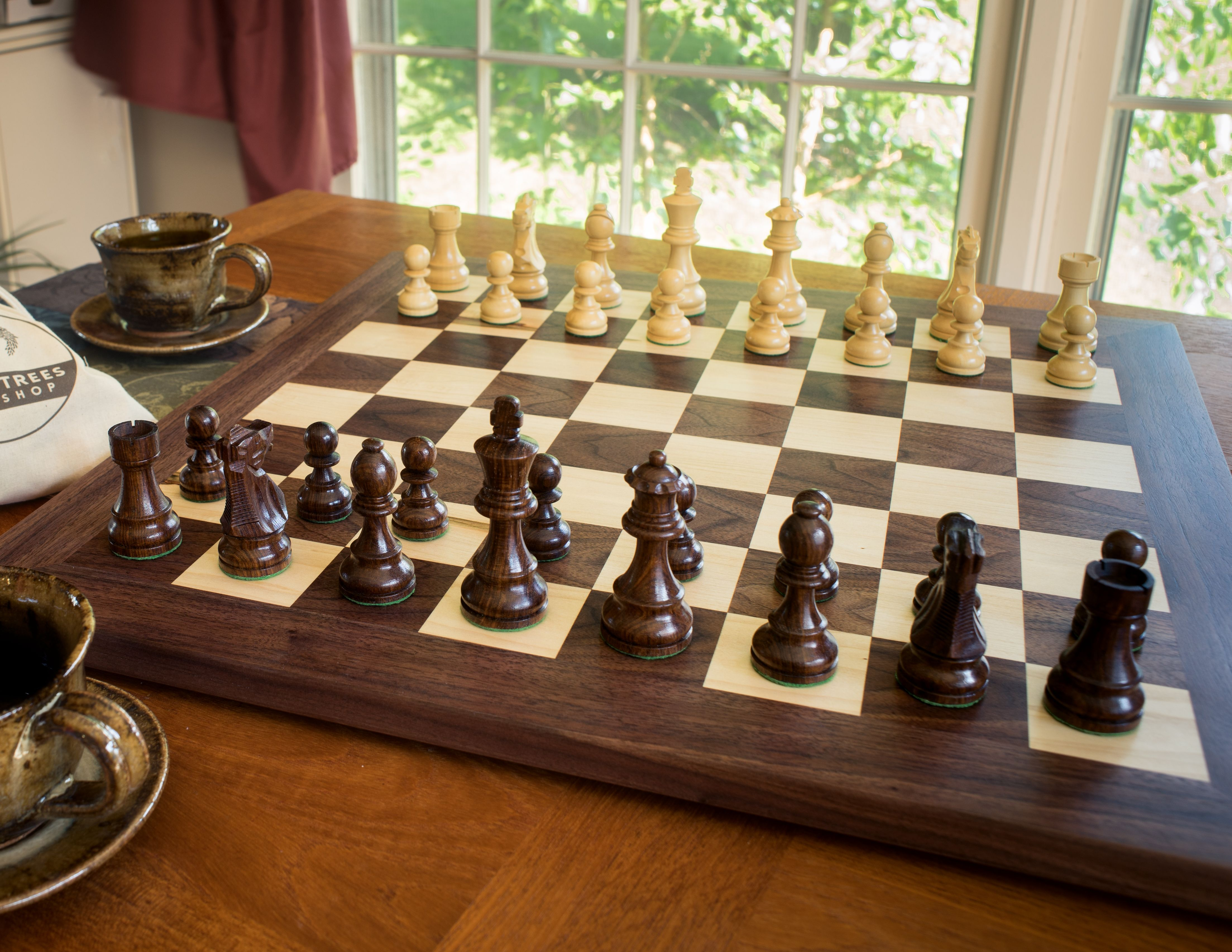 Wooden Chess Board Image