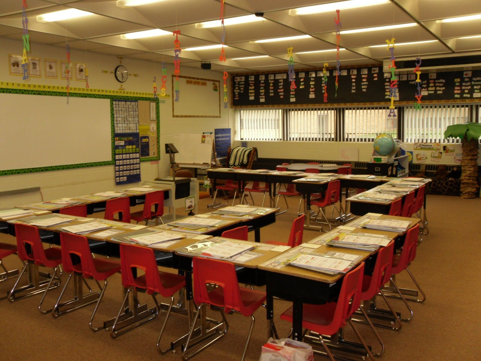 Classroom Layout Theory ~ I like the way these desks are arranged classroom