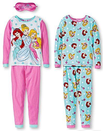 f763e0ea4b Disney Princesses Pajamas 4 Piece Cotton Pajamas With Sleep Mask