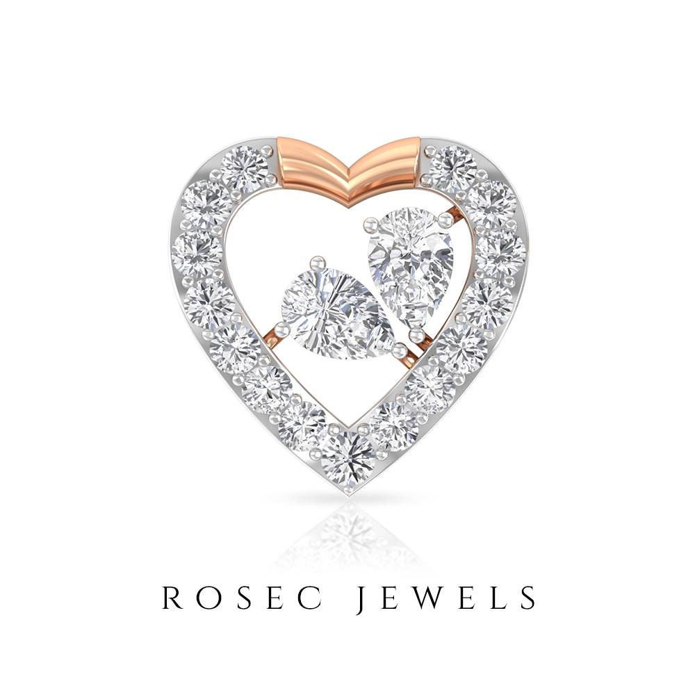 3 4 Carat Open Heart Certified Pear Shaped Diamond Cluster Stud Earring Heart Earrings Studs Pear Shaped Diamond Gold Earrings Gifts
