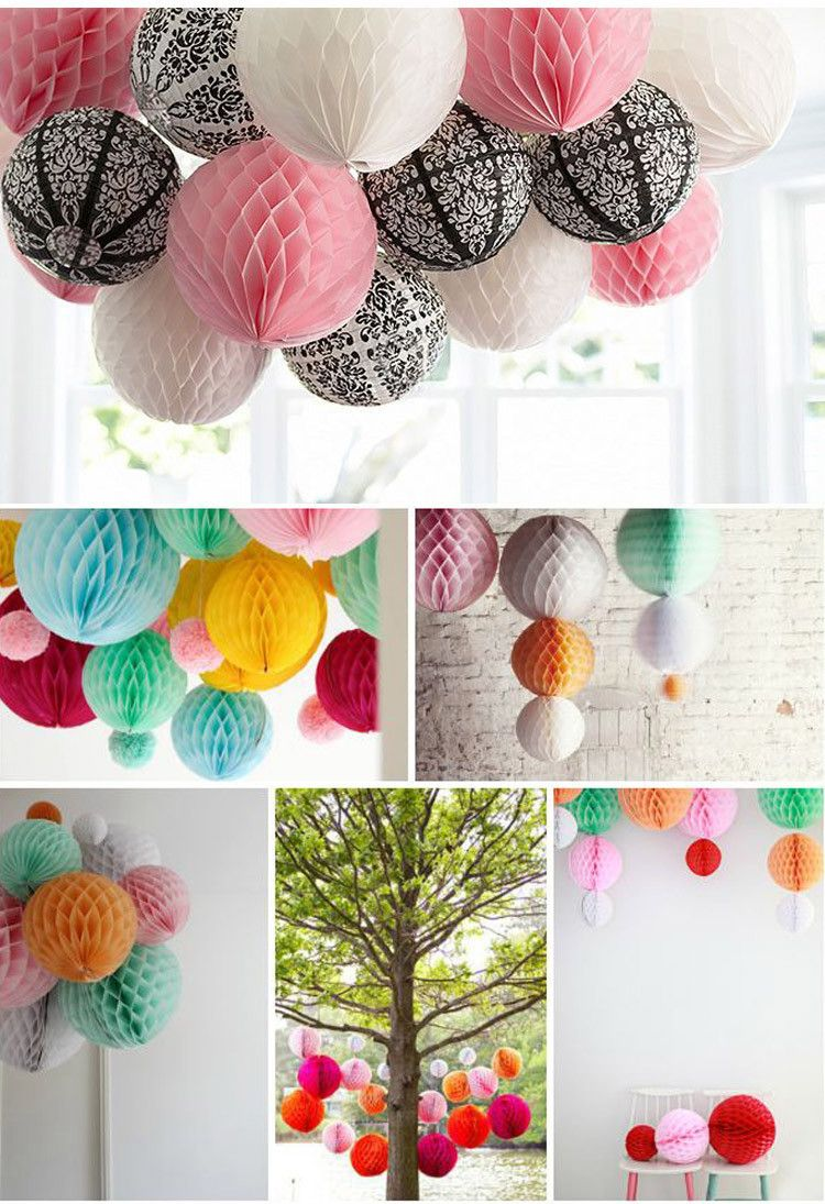 Honeycomb Balls Decoration 50Pcslot20Cmhoneycombballpaperlanternbouquetflowerball