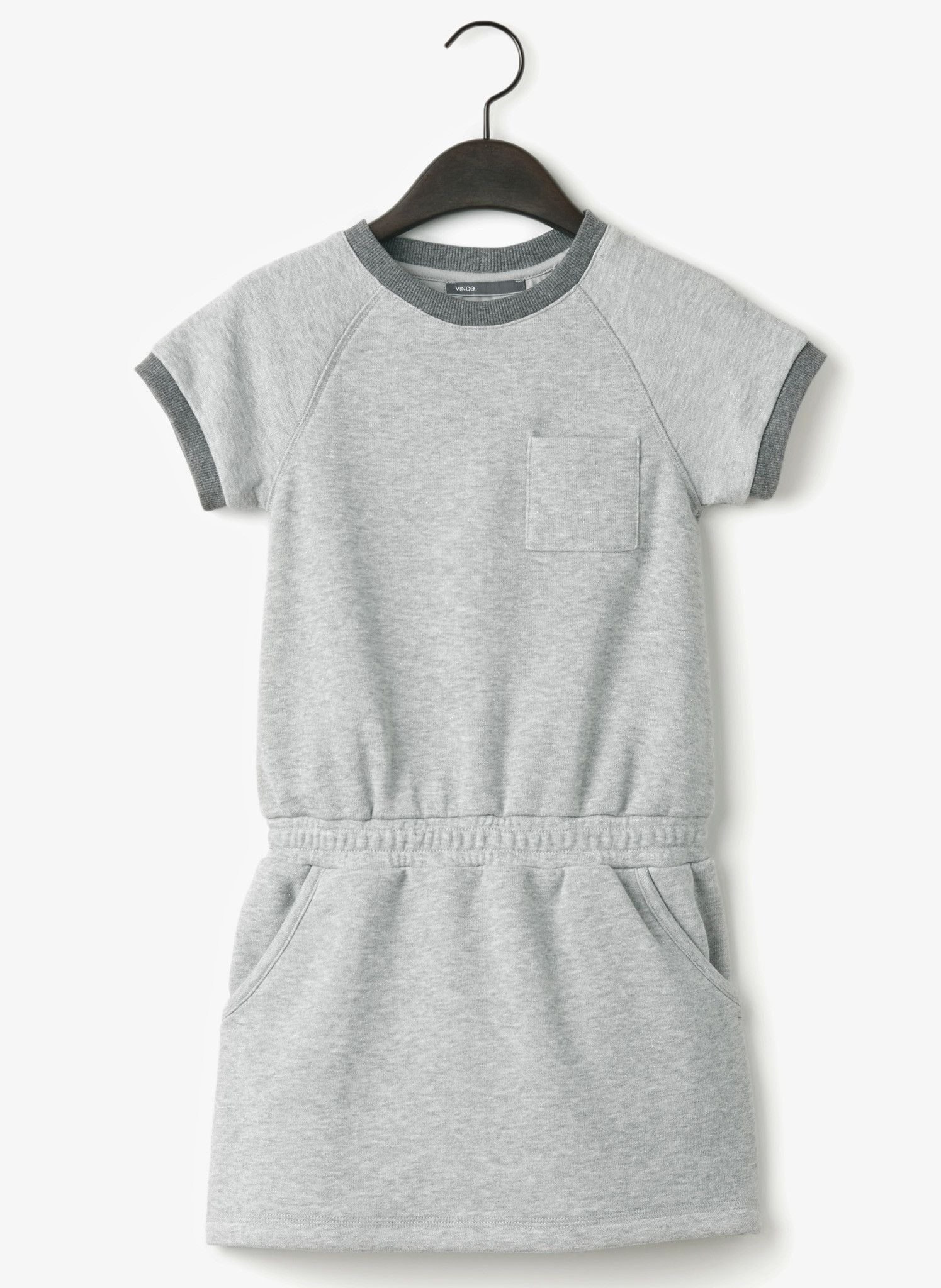 Vince girls french terry dress heather grey final french terry
