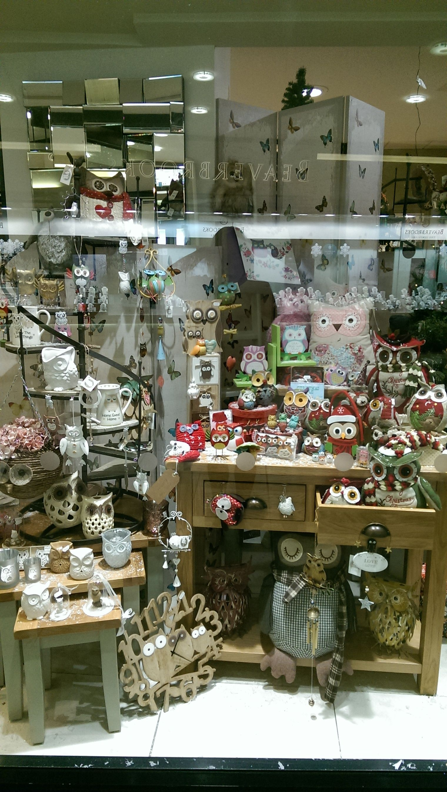 Owl Shop Window display at Magical Story Solihull 2015