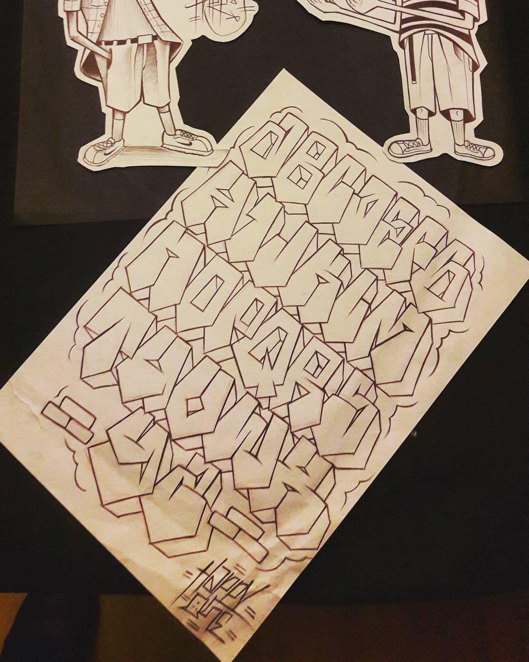 Abcdario Gangster Lettering Chololettering Graffiti