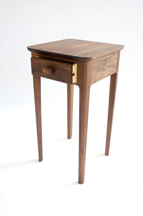 Best Petite Nightstand No 1 Modern Wood Night Stand Walnut 400 x 300