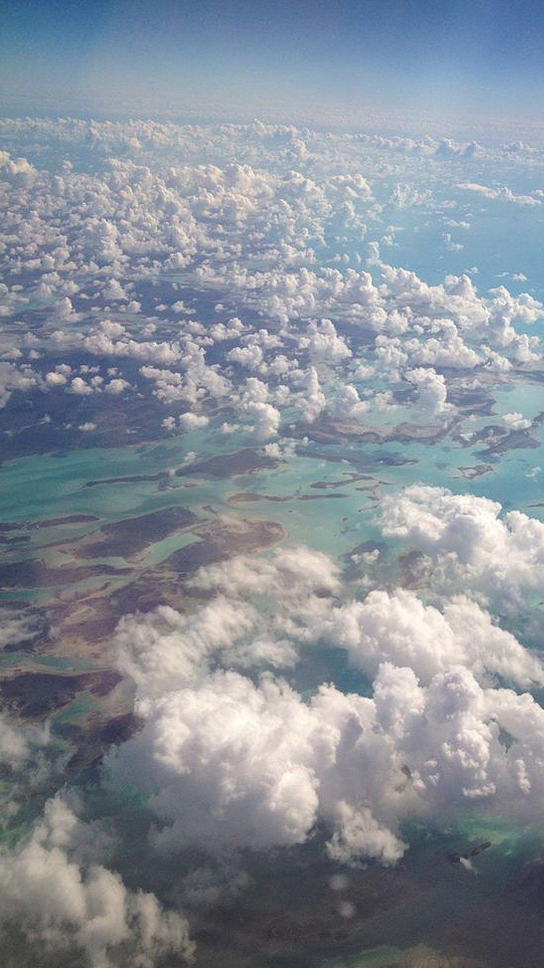 Nature High Cloudy Sky Landscape #iPhone #6 #wallpaper