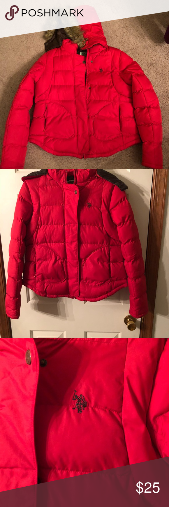 Red U S Polo Winter Coat Clothes Design Winter Coat Red Leather Jacket [ 1740 x 580 Pixel ]