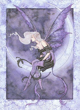 Fairy of the Changing Moons gothic fae art CANVAS PRINT