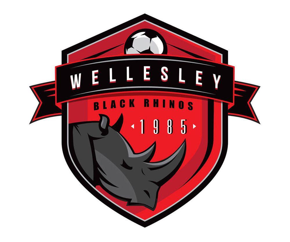 Custom Soccer Logo Design For Wellesley Black Rhinos By Jordan Fretz Design Football Logo Design Basketball Logo Design Sports Logo Design