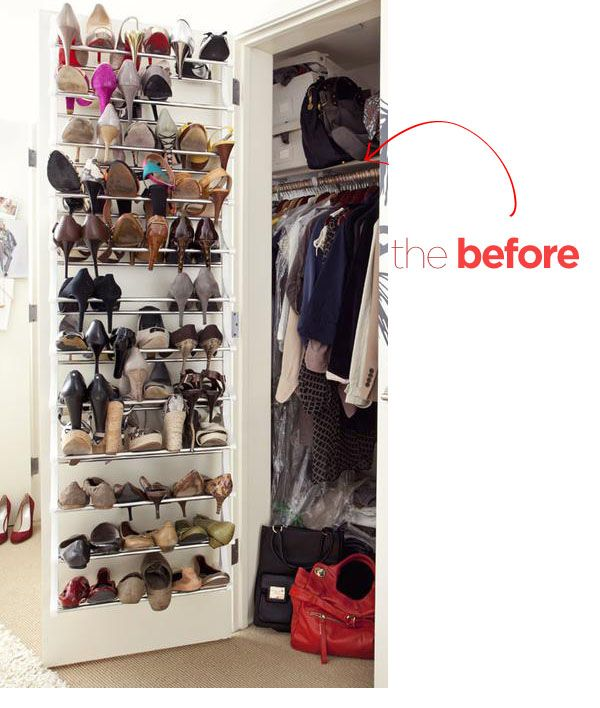 before and after closet makeover for a rental apartment | Tiny Apt ...