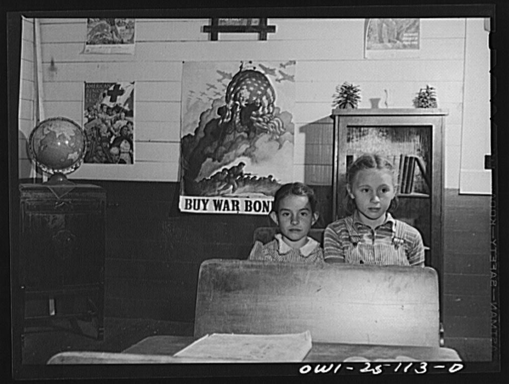 San Augustine, Texas. Children in a rural school John