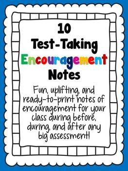 Encouraging Notes for Standardized Tests | Encouraging ...