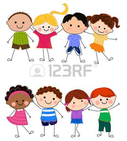 Gruppo Di Bambini Disegni Bambini Bambini Disegno Per Bambini