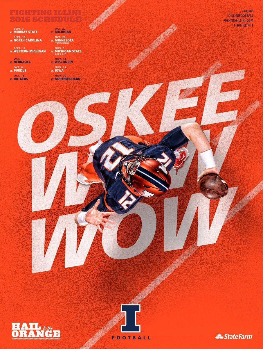 Poster Swag Posterswag Fighting Illini Football Illinois Fighting Illini Illinois Football