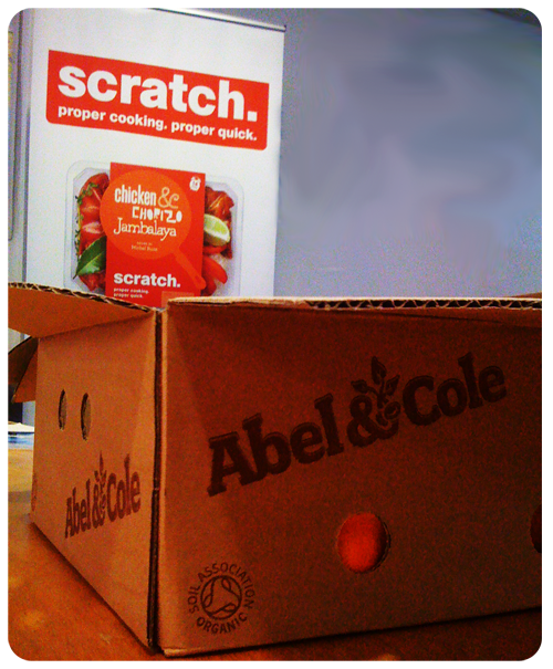Every week we get a fruit box from Abel & Cole delivered to our office.