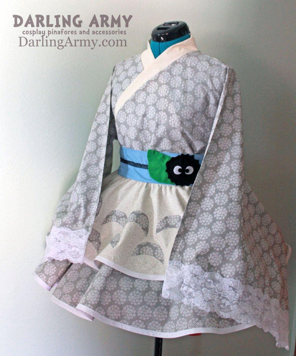 Totoro Studio Ghibli Cosplay Lolita Kimono Dress by DarlingArmy.deviantart.com on @deviantART