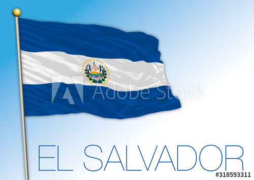 El Salvador Official National Flag Central American Country Vector Illiustration Buy This Stock Vector And Explore Sim Flag National Flag Flags Of The World