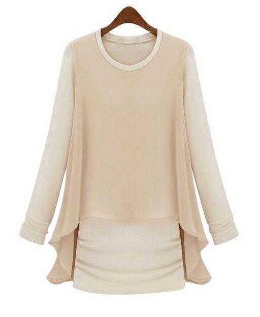 Pretty Long Sleeve Bodycon Dress Fashion Chiffon Long Sleeve