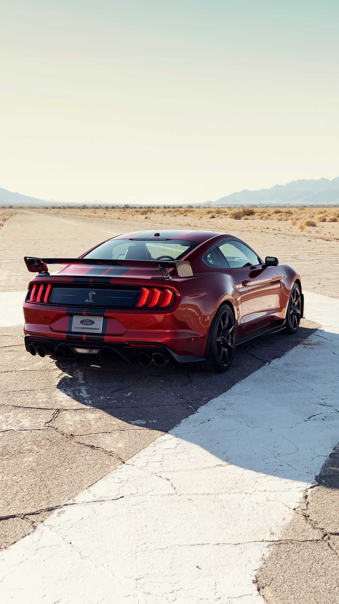 New, 2020 Ford Mustang Shelby GT500, red rear Ford