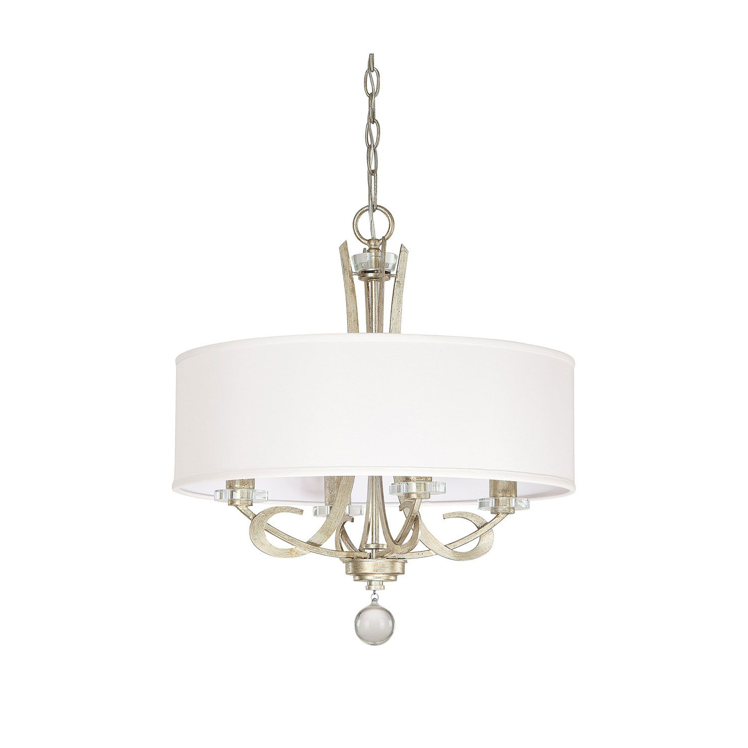 Capital Lighting Fixture Company Hutton Winter Gold Four Light Chandelier  With Drum Shade