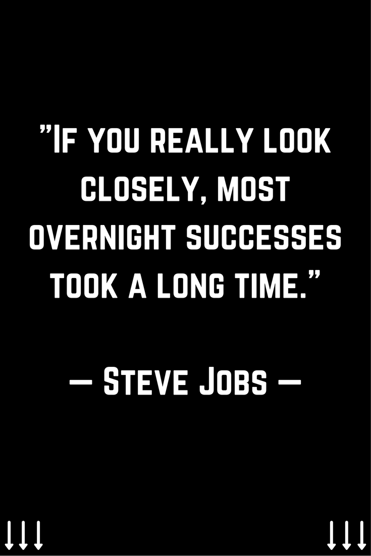 If You Really Look Closely Most Overnight Successes Took A Long
