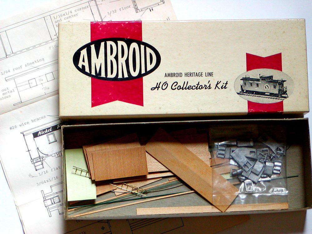 Nib Vtg Ho Ambroid Wood Caboose Craftsman Kit H 10 Wood Metal Nickel Plate Train Ambroid With Images Roofing Sheets Caboose 10 Things