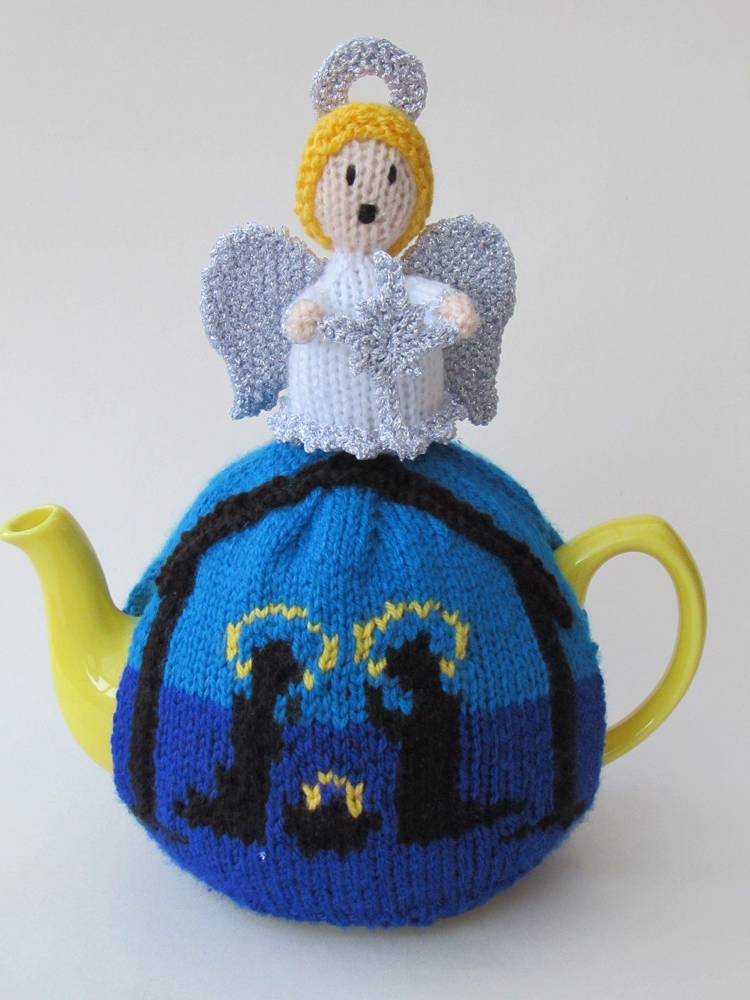 The holy night nativity tea cosy from the teacosyfolk range of tea the holy night nativity tea cosy from the teacosyfolk range of tea cosies has tea cosy knitting patterntea bankloansurffo Choice Image