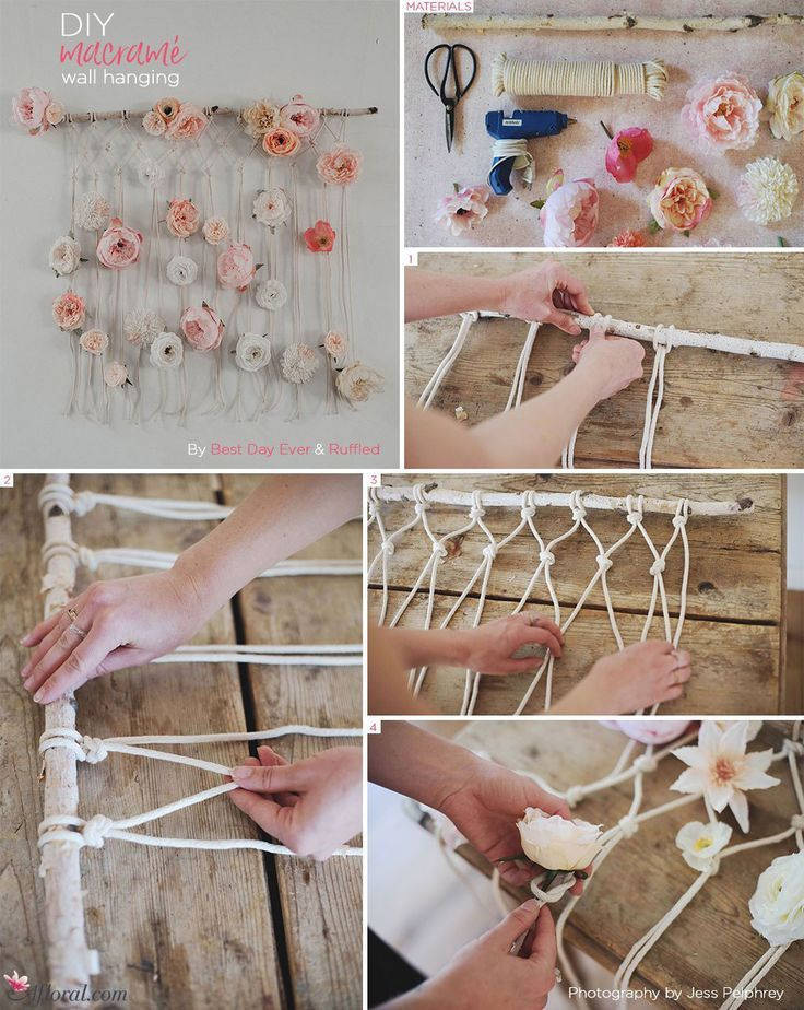 DIY Macramé Wall Hanging images