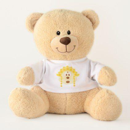 Teddy Bear & Baby Gold Goddess Hat 鲍 鲍 (Medium)