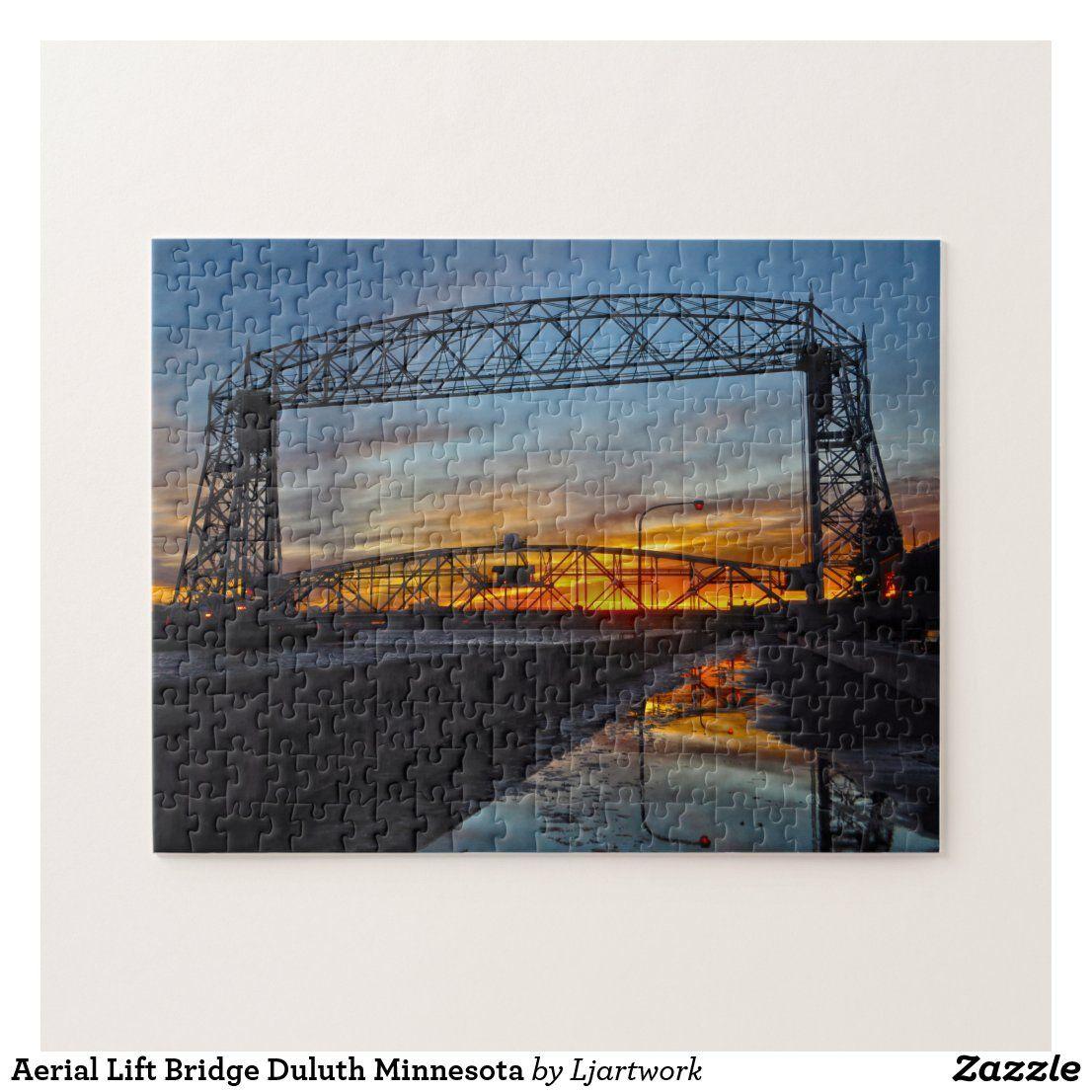 Aerial Lift Bridge Duluth Minnesota Jigsaw Puzzle Zazzle Com In 2020 Aerial Lift Duluth Minnesota Duluth