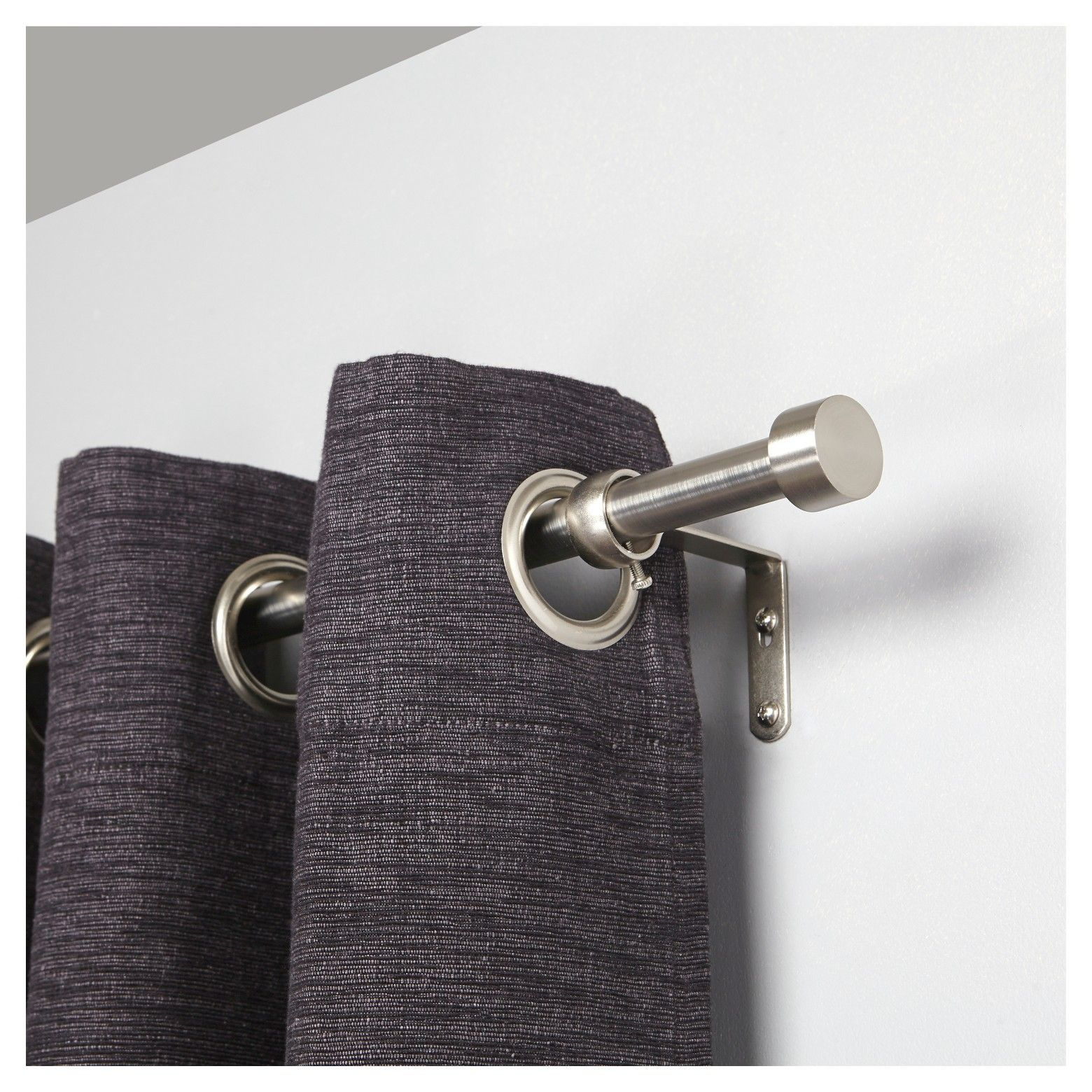 The Loft By Umbra Dauntless Curtain Rod Set Includes A 1 Quot Diameter Telescoping Rod In A Nickel Finish Two Decorative Fi Drapery Rods Curtain Rods Rod Set