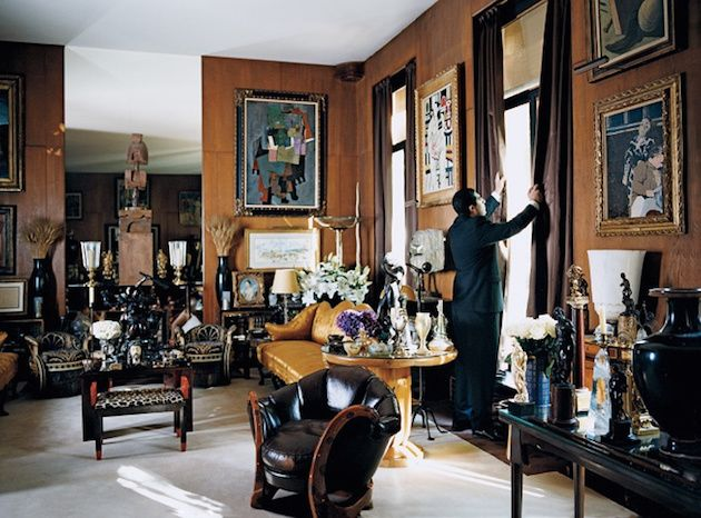 Interior Of The Appartment Of Yves Saint Laurent By Jaques Grange