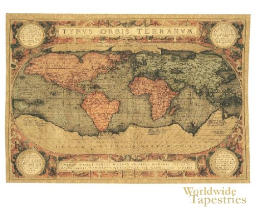 Vintage world map wall tapestry stuff i need well want vintage world map wall tapestry gumiabroncs Images