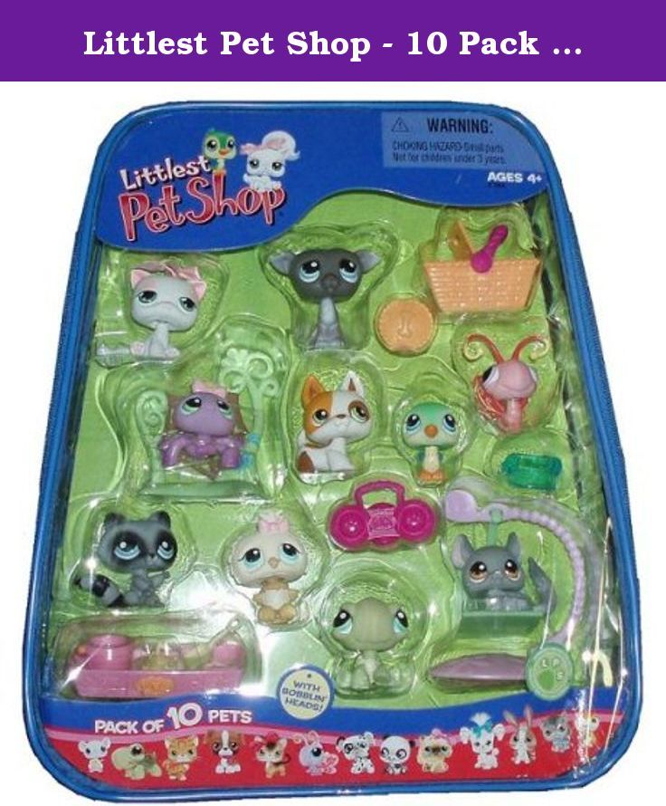 Littlest Pet Shop 10 Pack Of Pets White Kitten Rare Retired Set Includes 10 Pets And Lots Of Accessori Lps Littlest Pet Shop Pet Shop Littlest Pet Shop