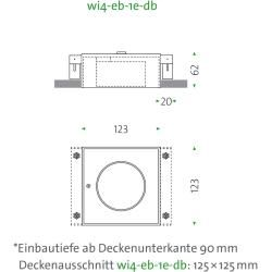 Mawa Design Wittenberg 4.0 wi4-eb-1e-db Einbaustrahler weiß matt (ral 9016) 12° (spot) warmweiß (300
