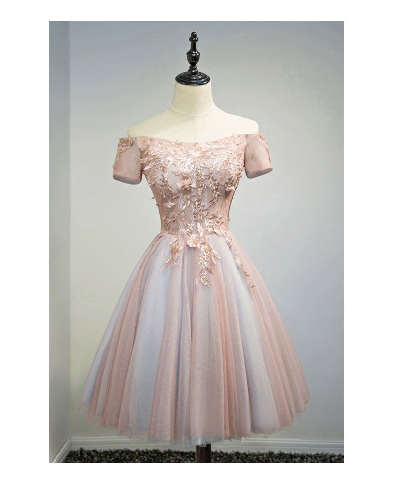 Special homecoming dresses custom plus size off shoulder short tulle