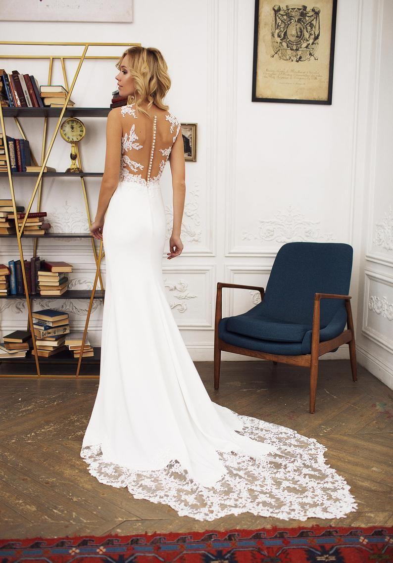 16 The Best Etsy Wedding Dresses You Ll Love Roses Rings Part 2 In 2021 Etsy Wedding Dress Wedding Dress Illusion Back Wedding Dresses Lace [ 1138 x 794 Pixel ]