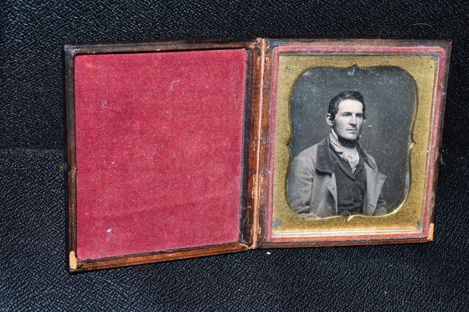 Late 1800s Antique Daguerreotype Photograph of A Handsome Gentleman Dag | eBay